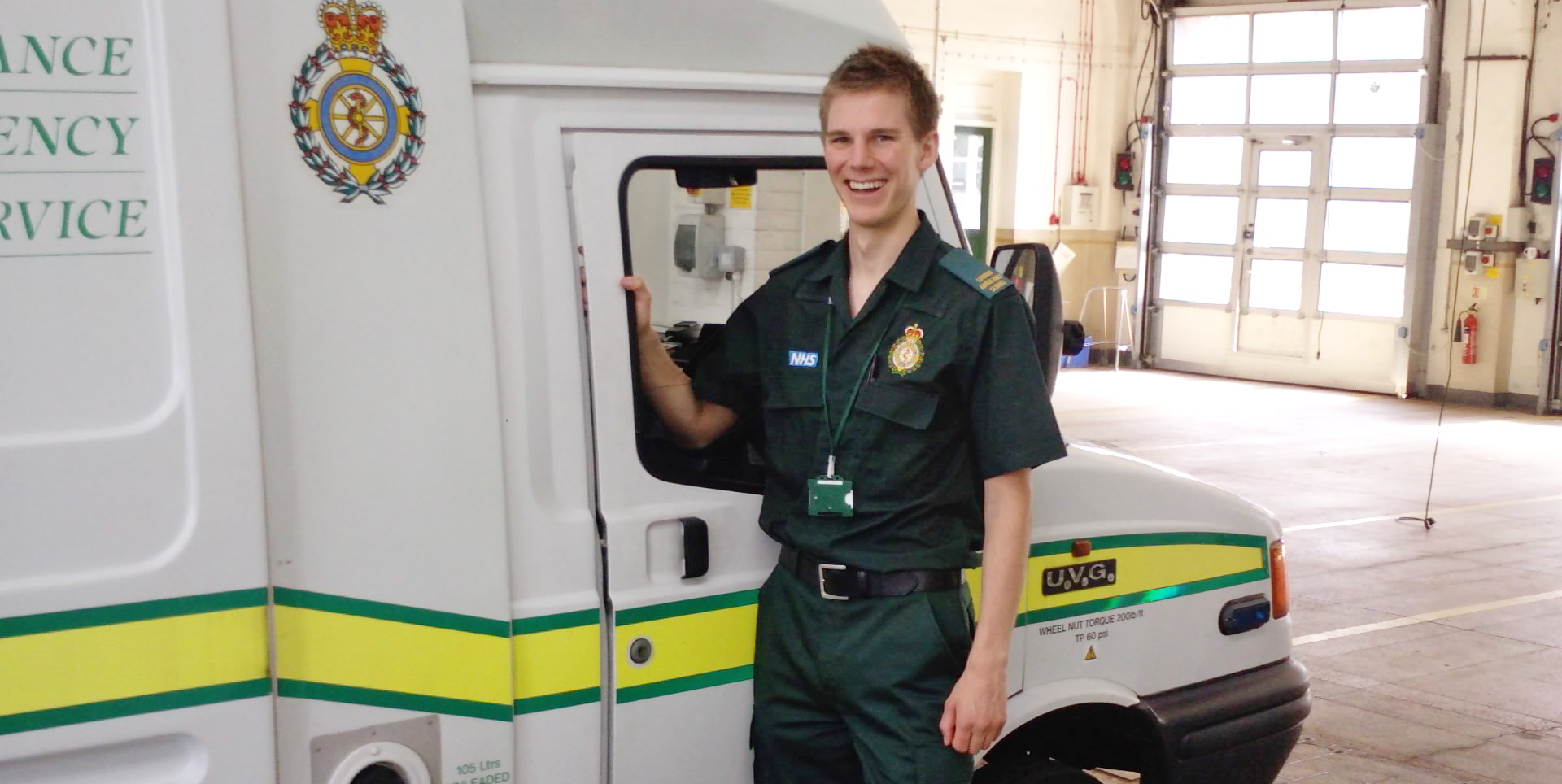 Phil Radford when he worked as a paramedic for the London Ambulance Service