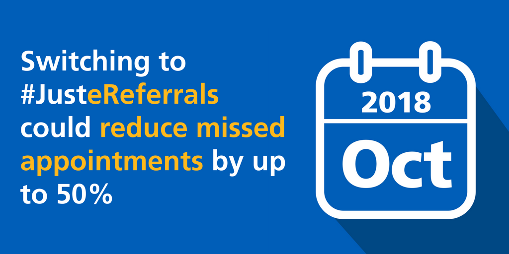 Reduce missed appointments with electronic referrals GIF