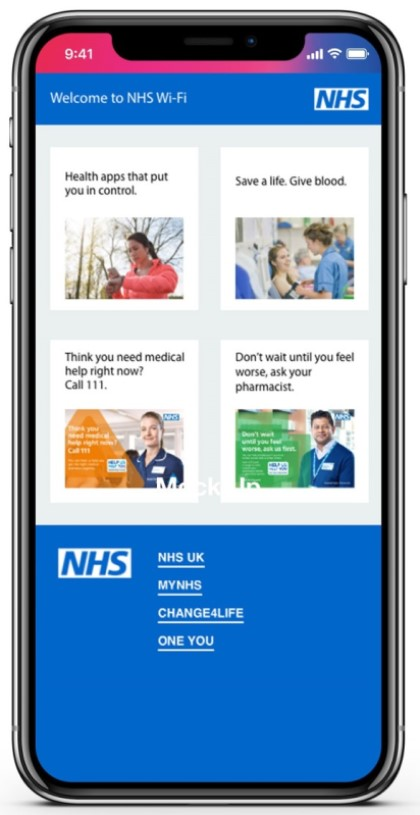 NHS WiFi post-authentication screen example