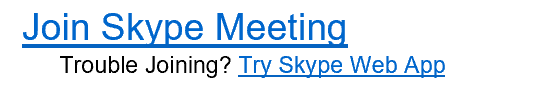 Image of joining Skype meeting options