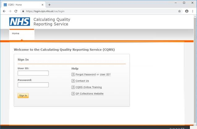 Calculating Quality Reporting Service screenshot