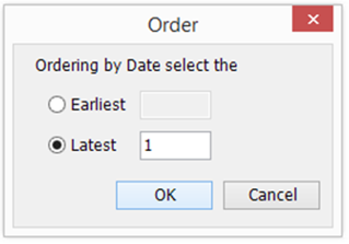 screenshot showing date ordering option