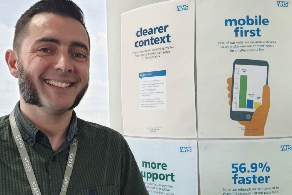Dean Vipond, Lead Designer of the NHS Digital Website