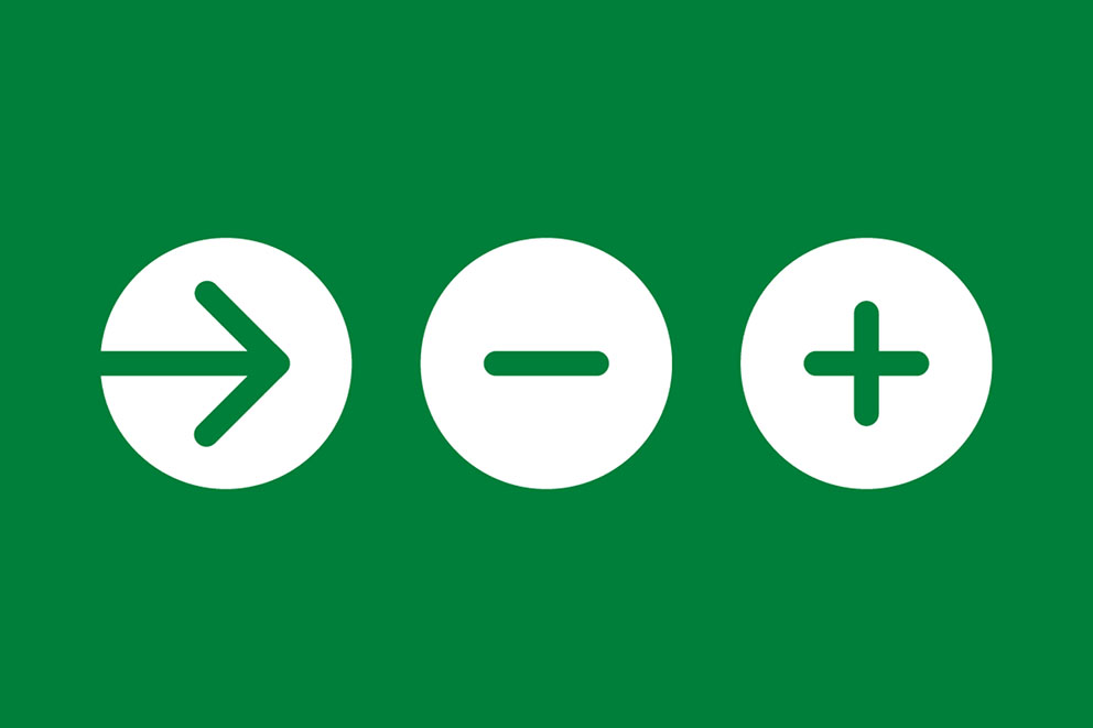 NHS icons for action link and expander controls