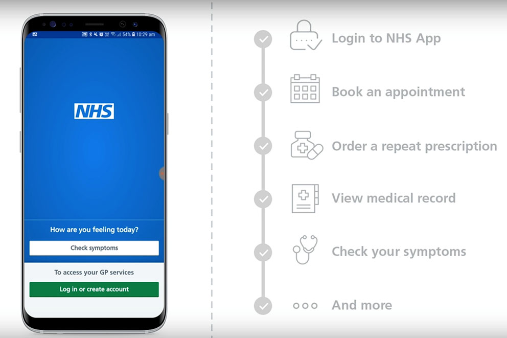 A guide to the features of the NHS App