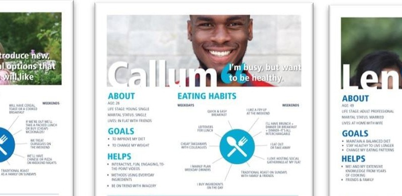 Screenshot of NHS healthy eating survey screen showing smiling man