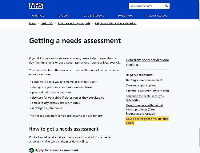 New content for social care on NHS.UK